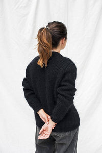 charlotte wool cardigan black