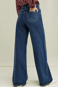 flora wide leg jeans by People Tree on thegreenlabels.com