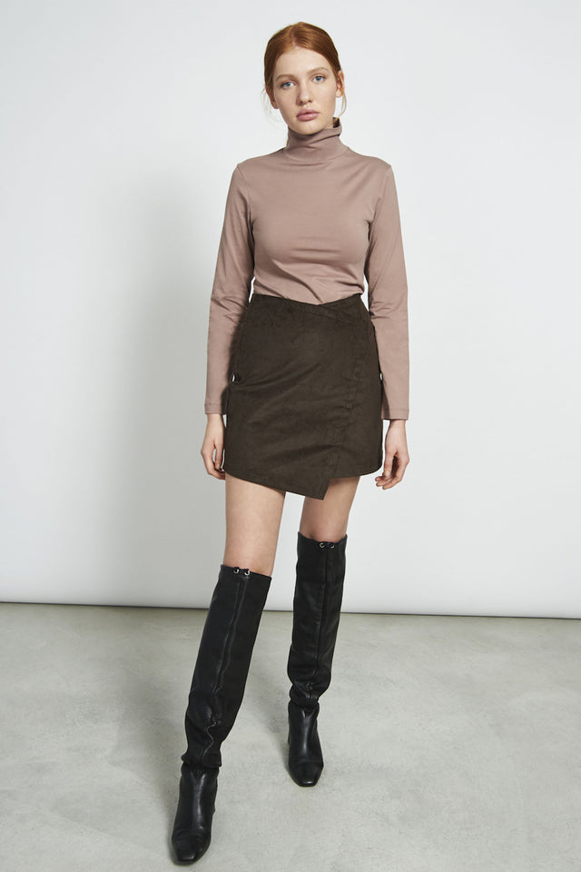 shop turtleneck mio greige by jan n june at thegreenlabels
