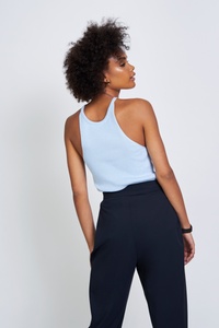 Shop lou knit top light blue by Jan n June on thegreenlabels