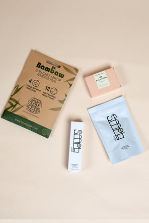 skincare bundle exfoliating on thegreenlabels