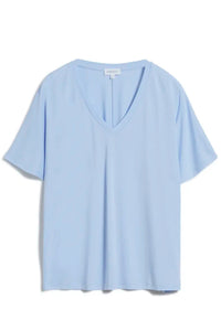 Shop miraa t-shirt pure blue by ARMEDANGELS on thegreenlabels.com