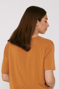 shop TENCEL™ lite t-shirt ocher by organic basics at thegreenlabels