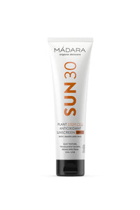 shop antioxidant body & face sunscreen SPF 30 by Mádara at thegreenlabels
