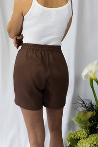 shop chocolate mocha shorts by Capsule Studio on thegreenlabels