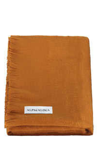 shop woven scarf rust by Alpaca Loca at thegreenlabels