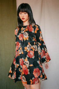 Shop  trapeze dress floral by Cossac at thegreenlabels