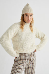 Shop cotys sweater snow white by Thinking Mu on thegreenlabels