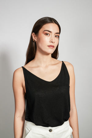 Shop triangle black top by JAN'N JUNE on thegreenlabels.com
