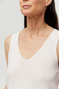 shop wilmaa knitted top white sand by ARMEDANGELS on thegreenlabels