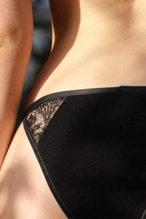 Zeia panties black by Olly Lingerie on thegreenlabels