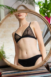 Shop amour bra black by Olly Lingerie on thegreenlabels