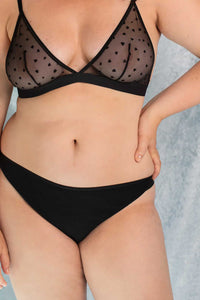 Shop amour panties black by Olly Lingerie on thegreenlabels