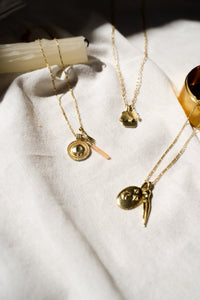 shop belladonna pendant gold by flawed at thegreenlabels