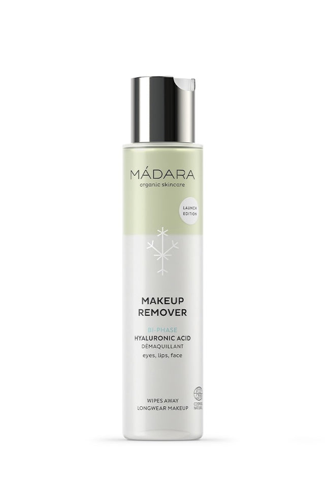 shop bi-phase makeup remover by Mádara at thegreenlabels
