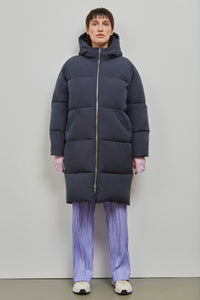 shop elphin down coat dark navy by Embassy of Bricks and Logs at thegreenlabels
