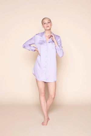 dress blouse lavender love by Le Nap on thegreenlabels