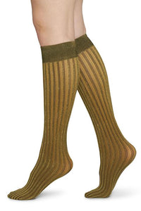 shop hilda shiny knee-high by swedish stockings at thegreenlabels