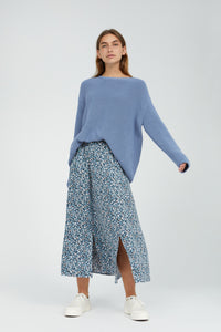 shop katinkaa primrose foggy blue by ARMEDANGELS on thegreenlabels