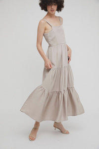 shop lenora long dress sand by Rita Row on thegreenlabels
