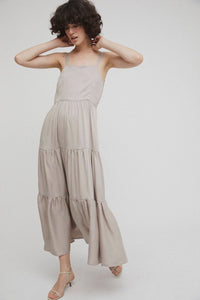shop lenora maxi dress sand by Rita Row on thegreenlabels