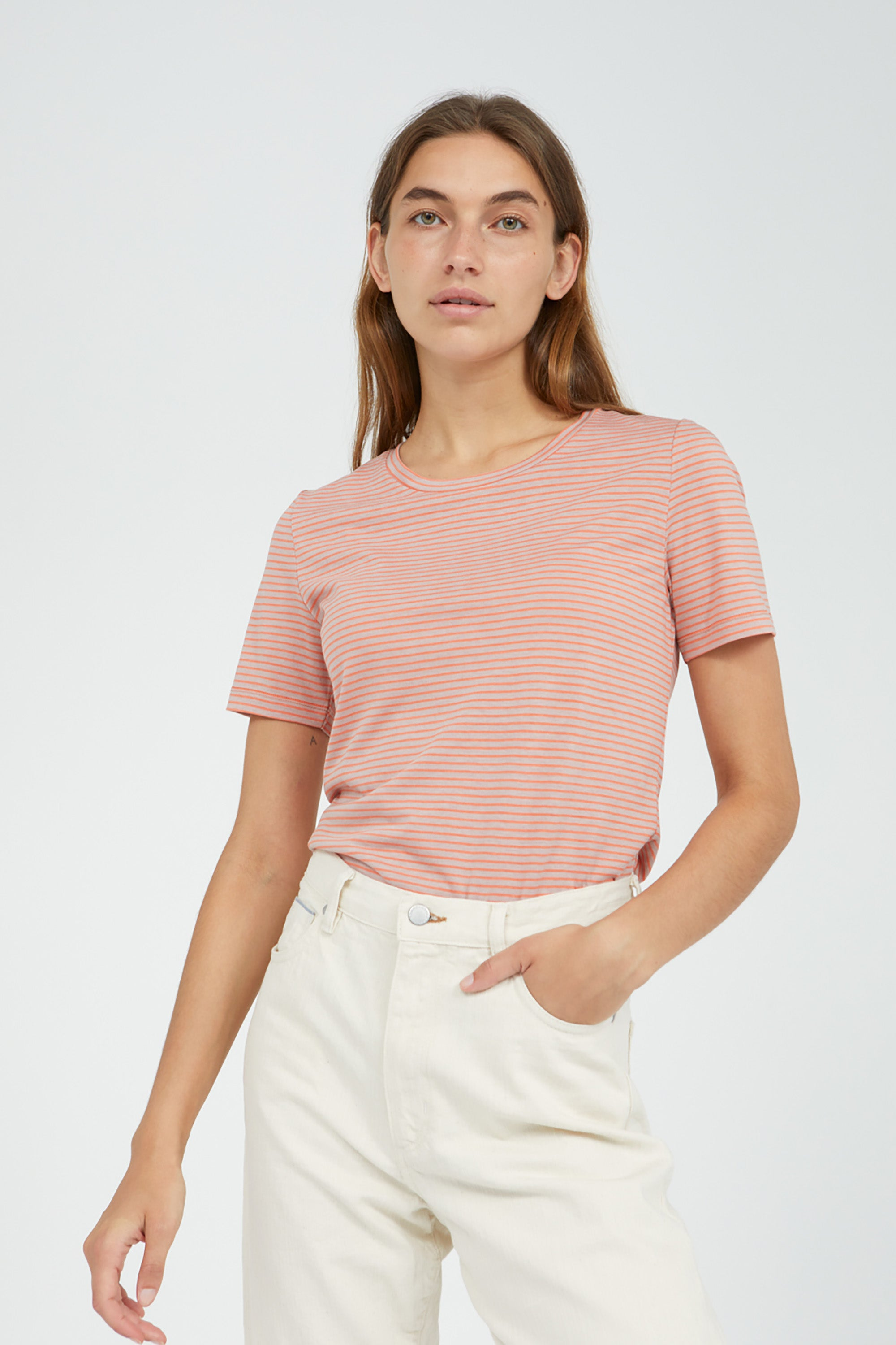 lidiaa small stripes t-shirt sunrise kinoko from thegreenlabels