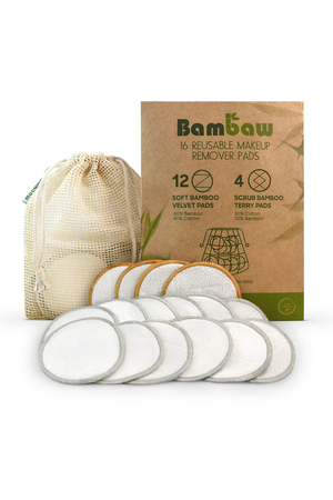 reusable makeup remover pads by Bambaw on thegreenlabels