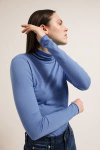 shop malenaa secondskin top dove blue by armedangels on thegreenlabels.com