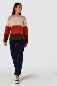 shop may sweater bold stripe orange by kings of indigo at thegreenlabels