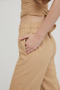 shop myra highwaist pants camel by Rita Row on thegreenlabels