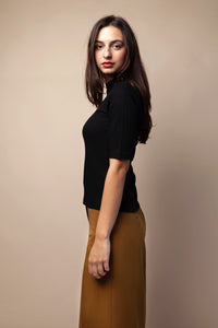 nina rib black top by JAN'N JUNE on thegreenlabels