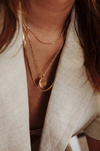 shop oval necklace gold by flawed at thegreenlabels