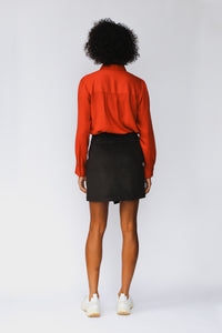 shop mini skirt guadalupe brownblack by Jan 'n june at thegreenlabels