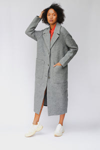 shop carran coat basalt by langerchen at thegreenlabels