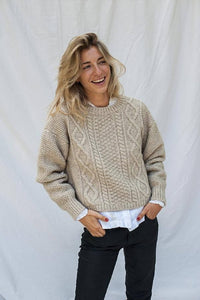 paola wool sweater beige