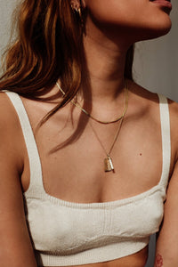 shop selected femme necklace gold by flawed at thegreenlabels
