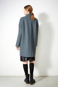shop taree coat platinum by langerchen at thegreenlabels