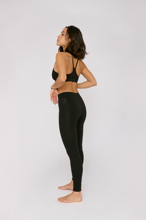 silver tech active leggings by organic basics on thegreenlabels.com