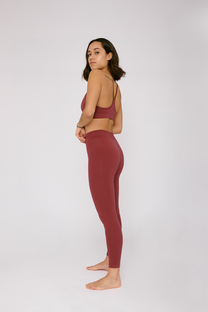 SilverTech™ <br> active leggings burgundy <br>by Organic Basics
