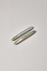 Shop petite nicole barrette pair sage by Winden on thegreenlabels