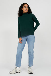 shop yunaa pullover deep lake by armedangels at thegreenlabels