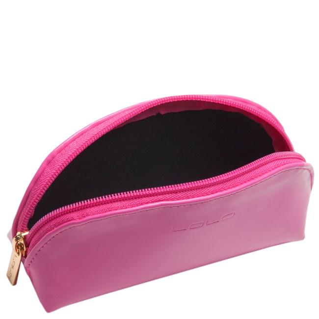 Sunglass case in green stripes with pink #framed