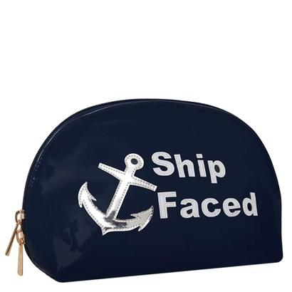 Molly in navy with white ship faced
