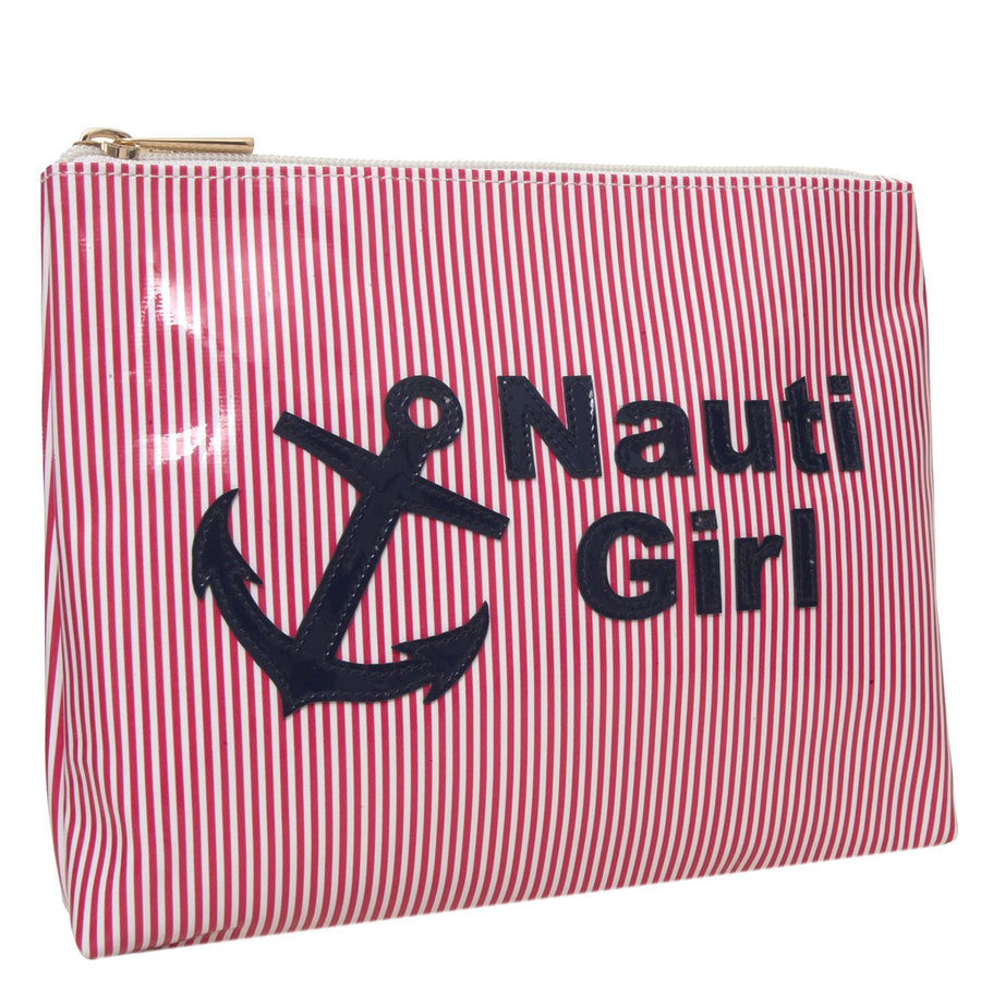 Alice in red stripe with navy nauti girl and anchor