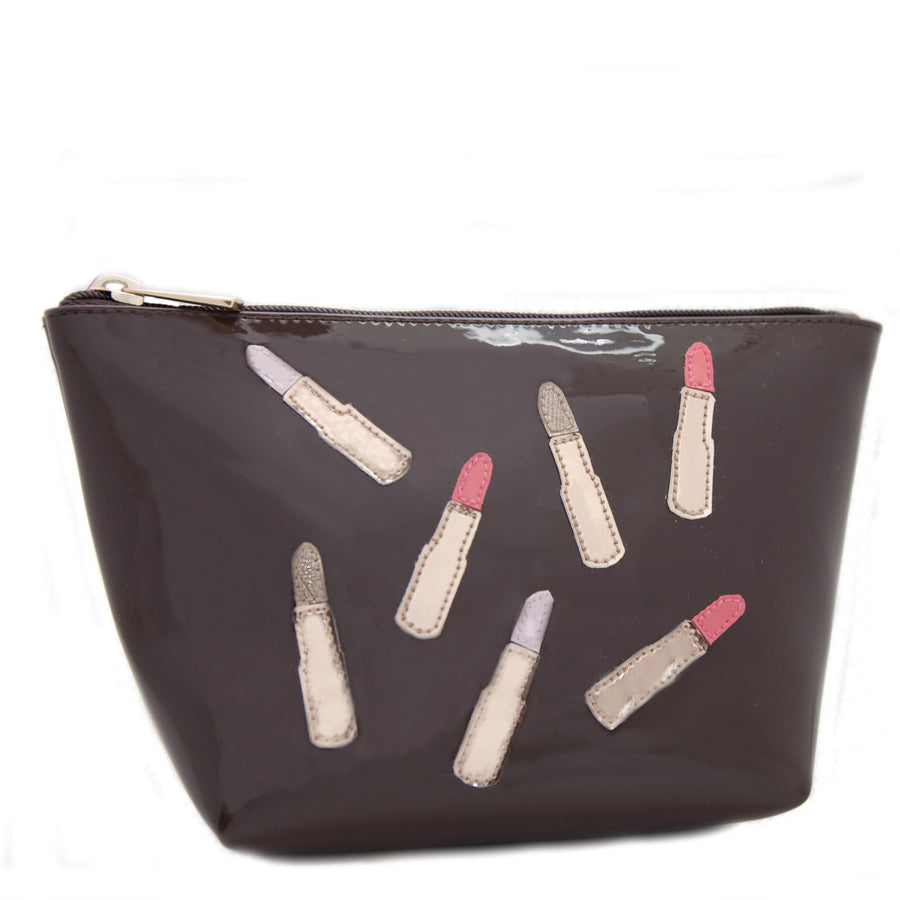 Medium Avery in chocolate with multicolor lipsticks
