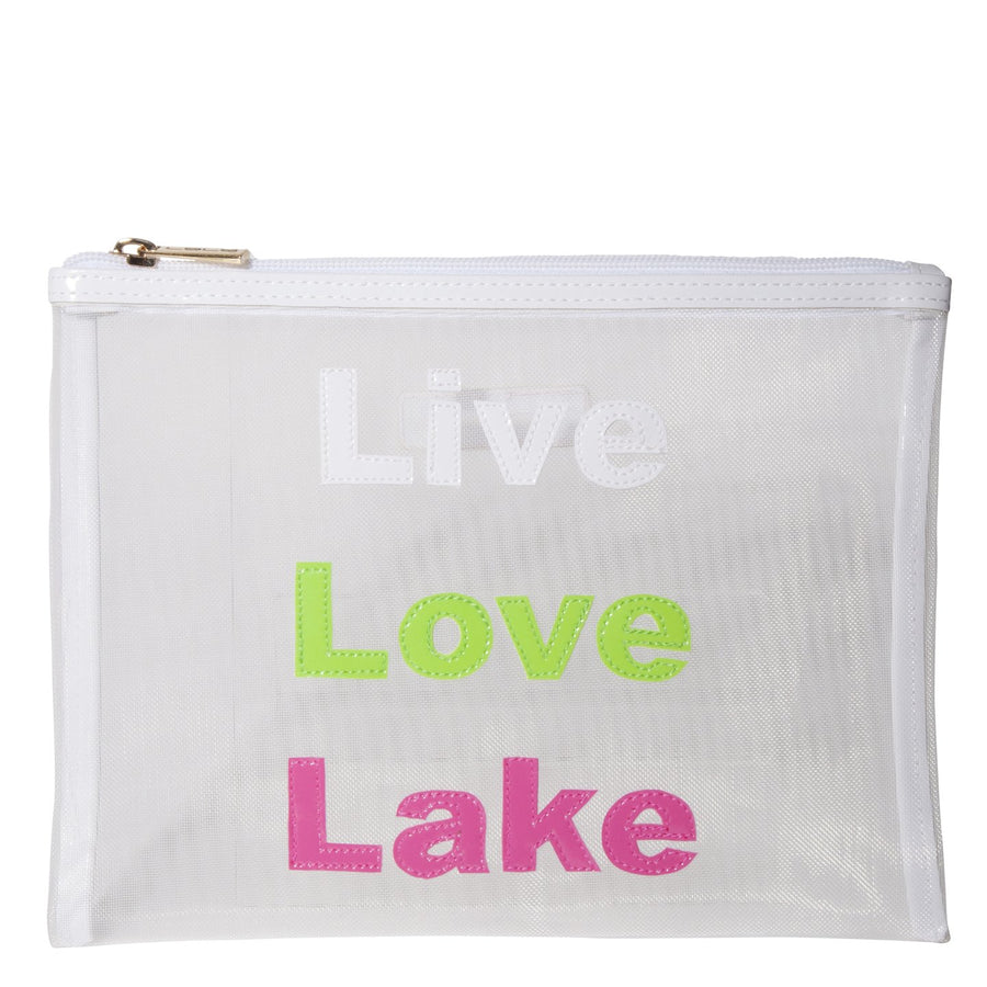 Stanley in white mesh with live love lake