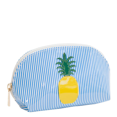 Small Molly in blue stripes with pineapple