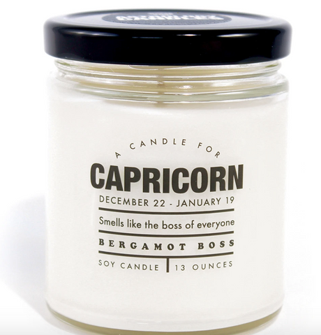 "Capricorn Candle ""Smells like the boss of everyone"""