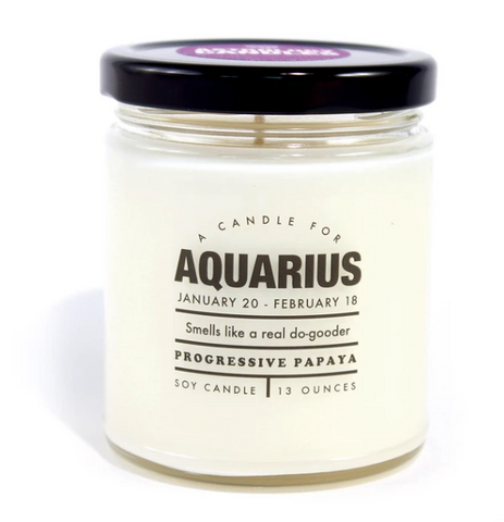 "Aquarius Candle ""Smells like a real do-gooder"""