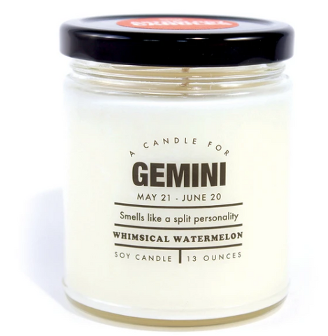 "Gemini Candle ""Smells like a split personality"""